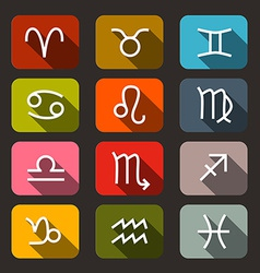 Zodiac - Horoscope Symbols - Signs vector image