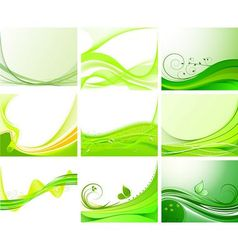 abstract floral background set vector image