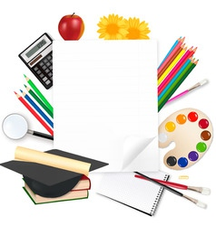 background back to school vector image vector image