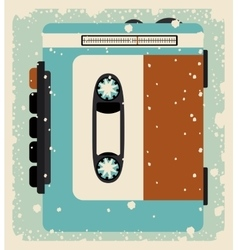 cassette tape isolated icon design vector image