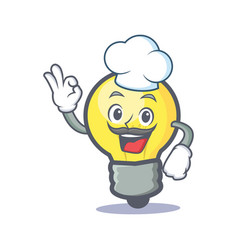chef light bulb character cartoon vector image