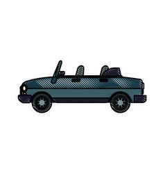 drawing convertible car vehicle transport vector image