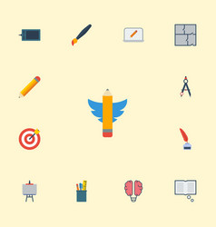 flat icons scheme science pen and other vector image vector image
