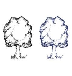 Hand drawn sketch tree Ink vector image