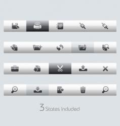 interface bars vector image