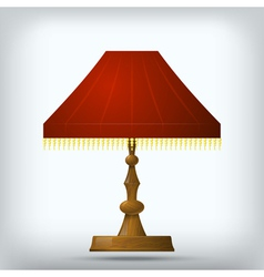 Red table lamp vector image