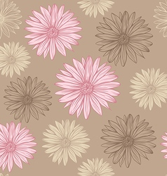 seamless pattern in pastel colors flowers vector image vector image