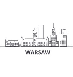 warsaw architecture line skyline vector image vector image