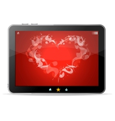 Black tablet like Ipade on white background ang vector image