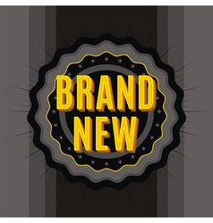 brand new stamp vector image vector image