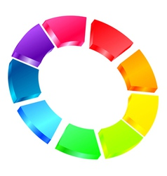 colorful icon vector image vector image