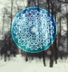 Decorative abstract snowflake vector image