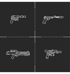 Fantastic weapons vector image vector image