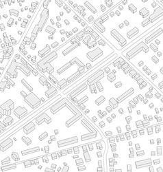 Imaginary city plan Isometric City background vector image vector image