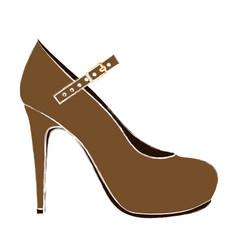 color sketch of high heel shoe vector image