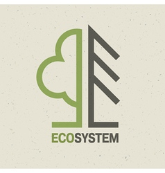 ecology symbol concept vector image vector image