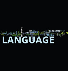 foreign language tips to improve your foreign vector image vector image