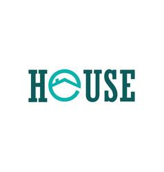 house circle logo vector image