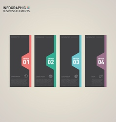 Infographic banner template design element vector image