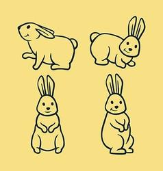 Rabbit Line Art vector image