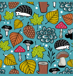 seamless pattern of winter coming vector image vector image