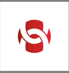 shape circle abstract round logo vector image vector image