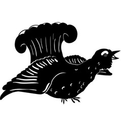 silhouette of a grouse isolated on white vector image
