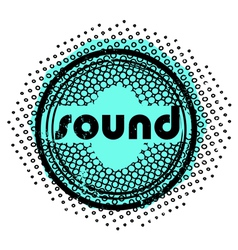 sound stamp vector image vector image