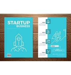 Startup business book cover vector image vector image
