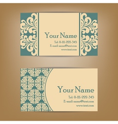 vintage vizit cards set vector image