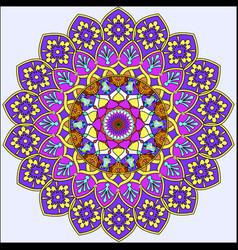 background circular ornaments of precious stones vector image