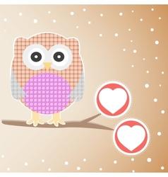 cute owl branch vector image