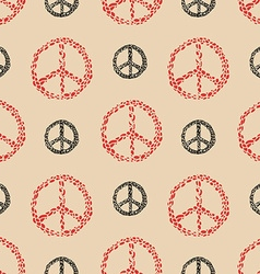 Peace sign seamless pattern vector image