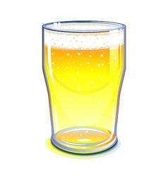 Pint glass vector