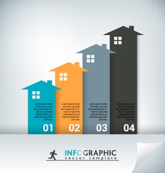 Real Estate Abstract Concept Infographic Chart vector image vector image