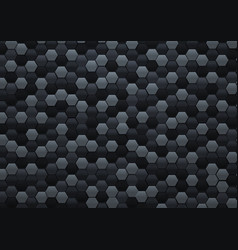 Abstract black hexagonal background 3d in a4 size vector