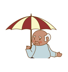 Adult male umbrella elder vector