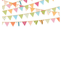 background with bunting vector image