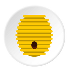 Beehive icon circle vector