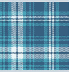 Blue plaid pattern background vector