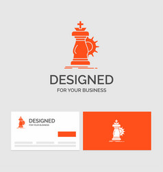 business logo template for strategy chess horse vector image