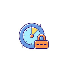 Change password rgb color icon vector
