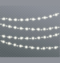 Christmas glowing lights vector