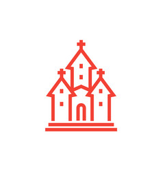 church icon linear style vector image vector image