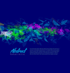 colorful geometric abstract futuristic background vector image