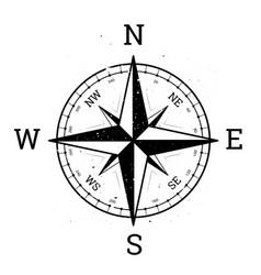 Compass rose design wind rose vector