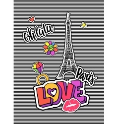 Cute fashion chic t-shirt design background vector image