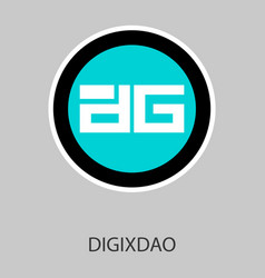 digixdao dgd digital cryptocurrency logo digixdao vector image