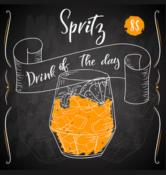 Dring poster cocktail spritz for vector