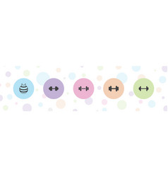 Dumbbell icons vector